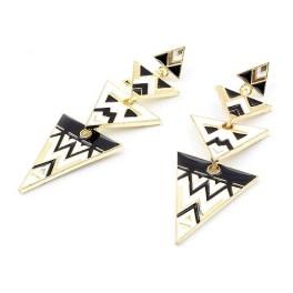 Missoni pyramid örhänge