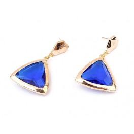 Örhängen Blå Triangel