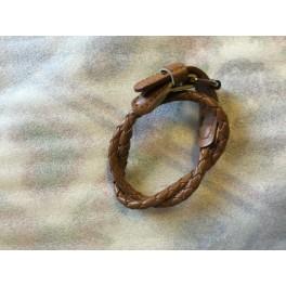 Dubbelt läderarmband