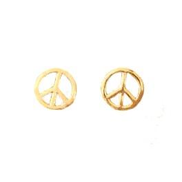 Peace örhängen guld