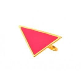 Dubbelring rosa triangel